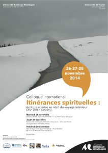 affiche colloque itinerances