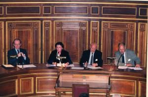 Colloque à la Sorbonne  Gilmont, MM. Fragonard, F. Higman, B. Roussel.