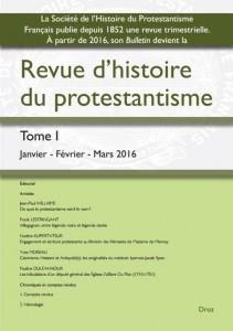 2016.03 - Revue d'Histoire du Protestantisme 1
